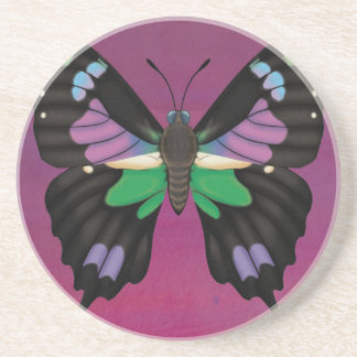 Porta-copos De Arenito Swallowtail manchado roxo