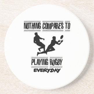 Porta-copos De Arenito Tendendo o design legal do rugby