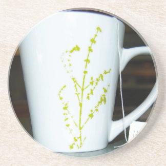 Porta-copos De Arenito Tenha um chá de O do copo!