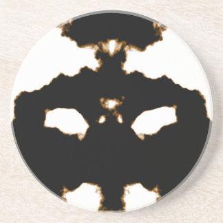 Porta-copos De Arenito Teste de Rorschach de um cartão da mancha da tinta
