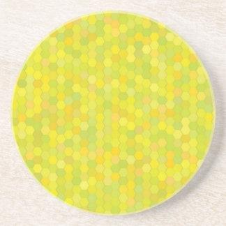 Porta-copos De Arenito teste padrão amarelo