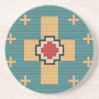 Porta-copos De Arenito Teste padrão americano do indiano do sudoeste