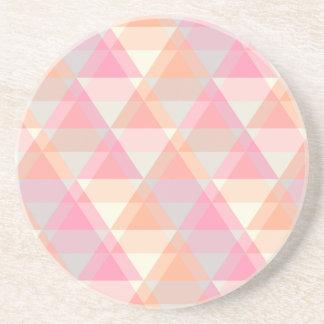 Porta-copos De Arenito Teste padrão cor-de-rosa
