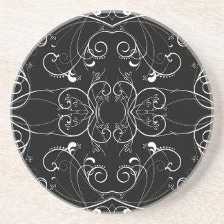 Porta-copos De Arenito Teste padrão de repetição floral delicado no