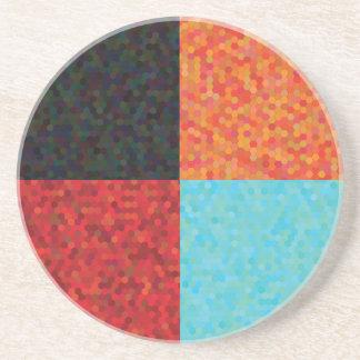 Porta-copos De Arenito teste padrão do hexágono