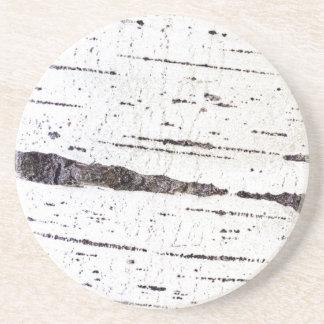 Porta-copos De Arenito Teste padrão do latido de vidoeiro