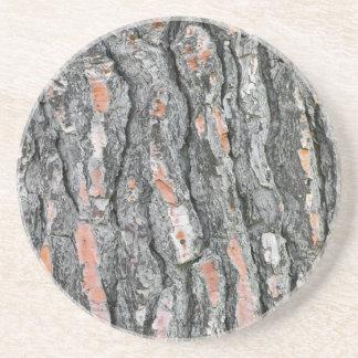 Porta-copos De Arenito Teste padrão do latido do pinho