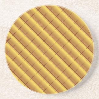 Porta-copos De Arenito Teste padrão do ouro