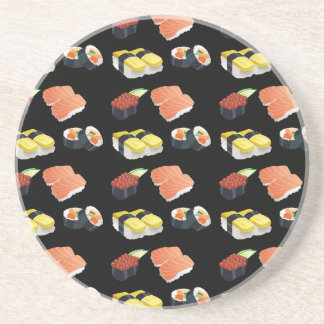 Porta-copos De Arenito Teste padrão do sushi
