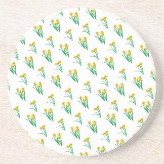 Porta-copos De Arenito Teste padrão dos Daffodils