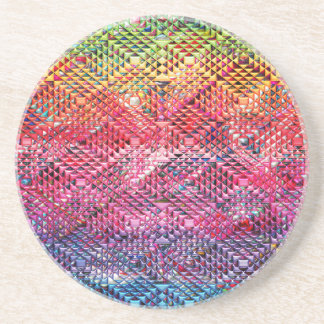 Porta-copos De Arenito Teste padrão geométrico abstrato