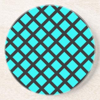 Porta-copos De Arenito Teste padrão preto do Aqua