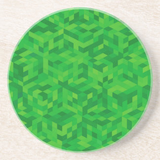 Porta-copos De Arenito teste padrão verde