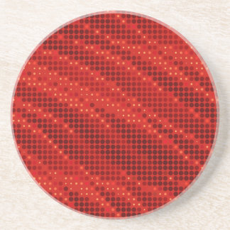 Porta-copos De Arenito Teste padrão vermelho vibrante do ponto & de onda
