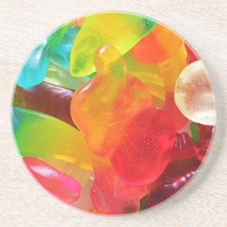 Porta-copos De Arenito textura colorida da goma da geléia