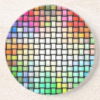 Porta-copos De Arenito Textura feita malha colorida