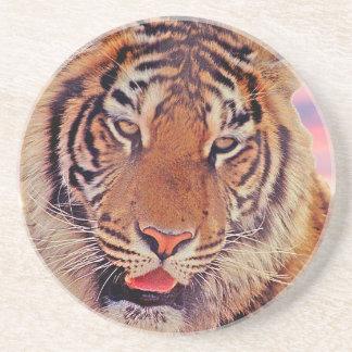 Porta-copos De Arenito Tigre sonolento -