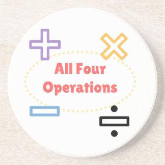 Porta-copos De Arenito Todas as quatro operações