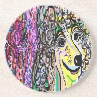 Porta-copos De Arenito Transição da cor da caniche