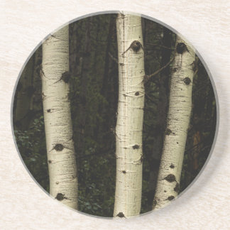 Porta-copos De Arenito Três colunas da floresta