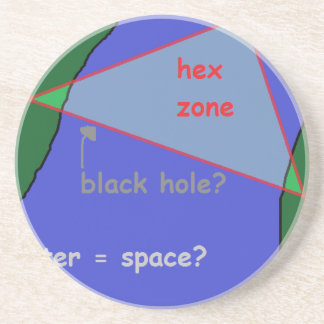 Porta-copos De Arenito Triângulo de Bermuda: a teoria