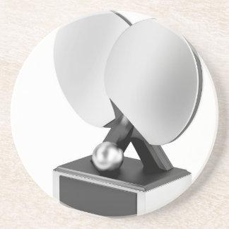 Porta-copos De Arenito Troféu de prata do ténis de mesa