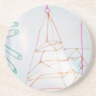 Porta-copos De Arenito Um jogo do grânulo de vidro dos Geometers