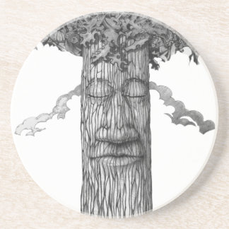 Porta-copos De Arenito Um &W poderoso do cobrir da árvore