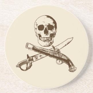 Porta-copos De Arenito Uma vida skullcoaster_1 dos piratas