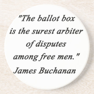 Porta-copos De Arenito Urna de voto - James Buchanan