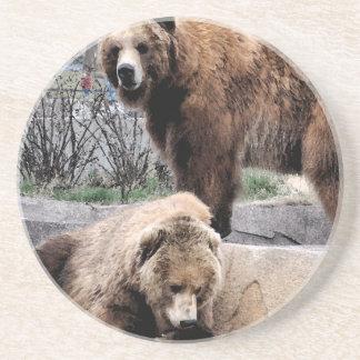 Porta-copos De Arenito Urso de Brown