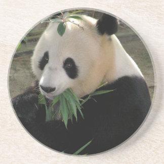 Porta-copos De Arenito Urso de panda gigante bonito