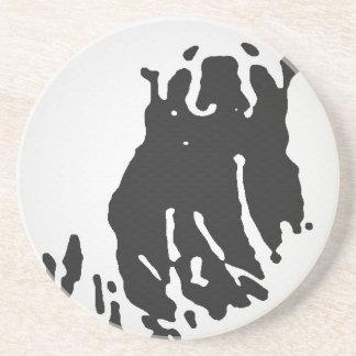 Porta-copos De Arenito Urso polar no cinza