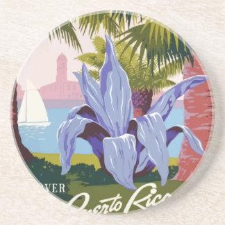 Porta-copos De Arenito Viagens vintage Puerto Rico