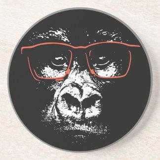 Porta-copos De Arenito Vidros do vermelho do gorila