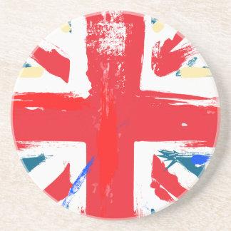 Porta-copos De Arenito Vintage britânico da bandeira de Union Jack