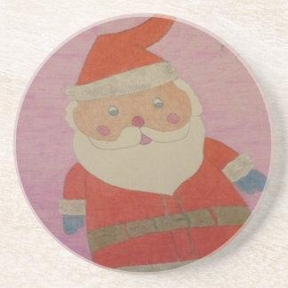 Porta-copos De Arenito Vintage Papai Noel