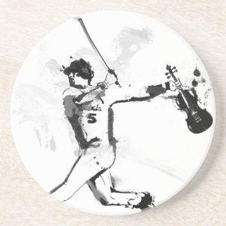 Porta-copos De Arenito Violinista do basebol