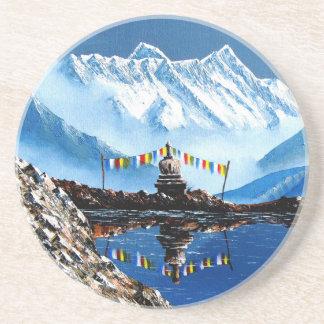 Porta-copos De Arenito Vista panorâmica da montanha Nepal de Annapurna