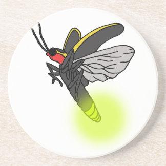 Porta-copos De Arenito vôo 2 do inseto de relâmpago iluminado