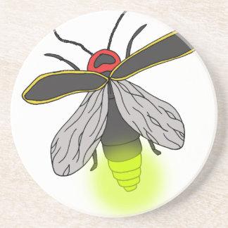 Porta-copos De Arenito vôo do inseto de relâmpago iluminado