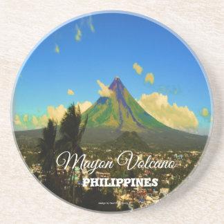 """Porta-copos De Arenito Vulcão de Mayon, Albay Filipinas """"3d """""""