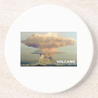 Porta-copos De Arenito Vulcão distante