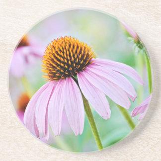 Porta-copos De Arenito Wildflowers roxos