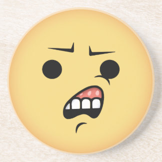 Porta-copos De Arenito WTF Emoji