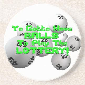 Porta-copos De Arenito Ya conseguiu ter as bolas para jogar a lotaria!