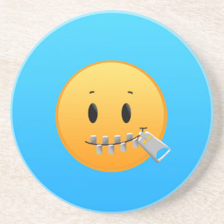 Porta-copos De Arenito Zipper Emoji