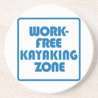 Porta-copos De Arenito Zona Kayaking livre do trabalho