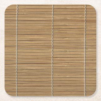 Porta copos de bambu do papel quadrado da esteira porta-copo de papel quadrado