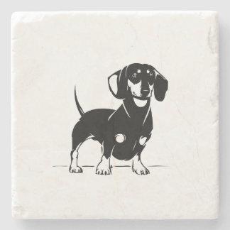 Porta copos de mármore do dachshund porta-copos de pedra